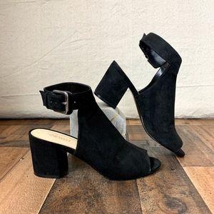 NINE WEST Black Suede Jomei Sandal EUC